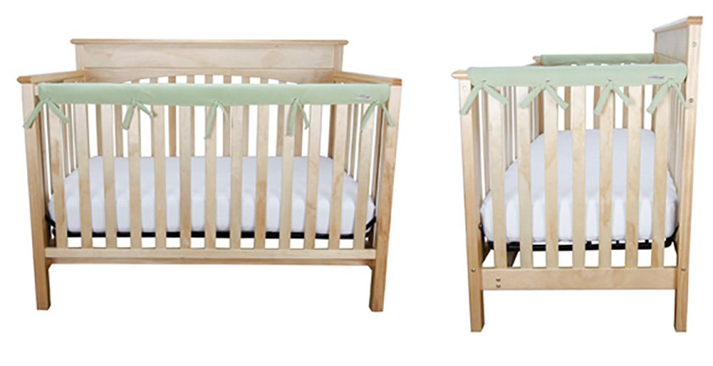 1-51 Front Rail Cover /& 2-27 Side Rail Covers Narrow CribWrap Crib Wrap 3PC Rail Cover Set By Trend Lab Coral