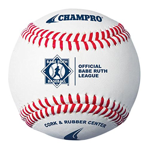 CHAMPRO Babe Ruth Baseball, Full Grain Leather Cover Babe Ruth Baseball, 12 Babe Ruth Official Baseball
