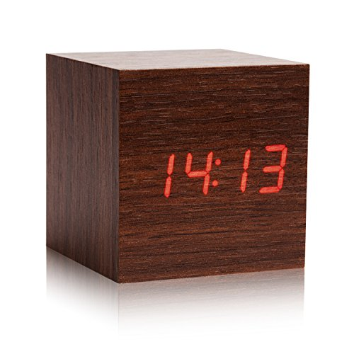 LED Wood Alarm Clock Temperature product image