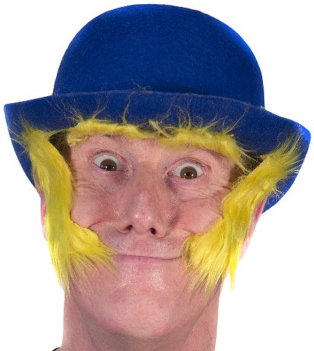 74124d8a880 Amazon.com  HMS Clown Derby Hat with Self Adhesive Sideburns