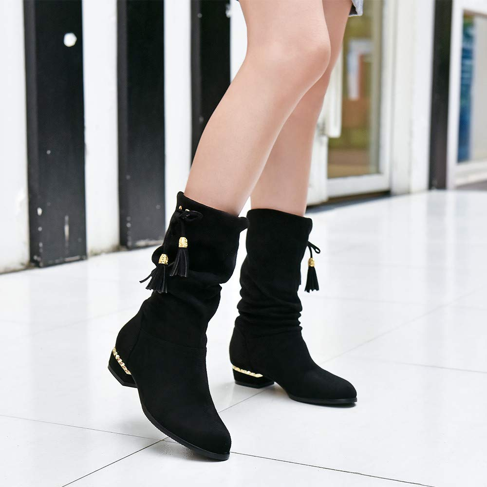 d2dfb9fbbedf Amazon.com: Sunsee 2019 Christmas Promotion Women's Knee Flat Shoes  Butterfly Decorative Conference Gathering Symposium Ladies Long Boots:  Clothing
