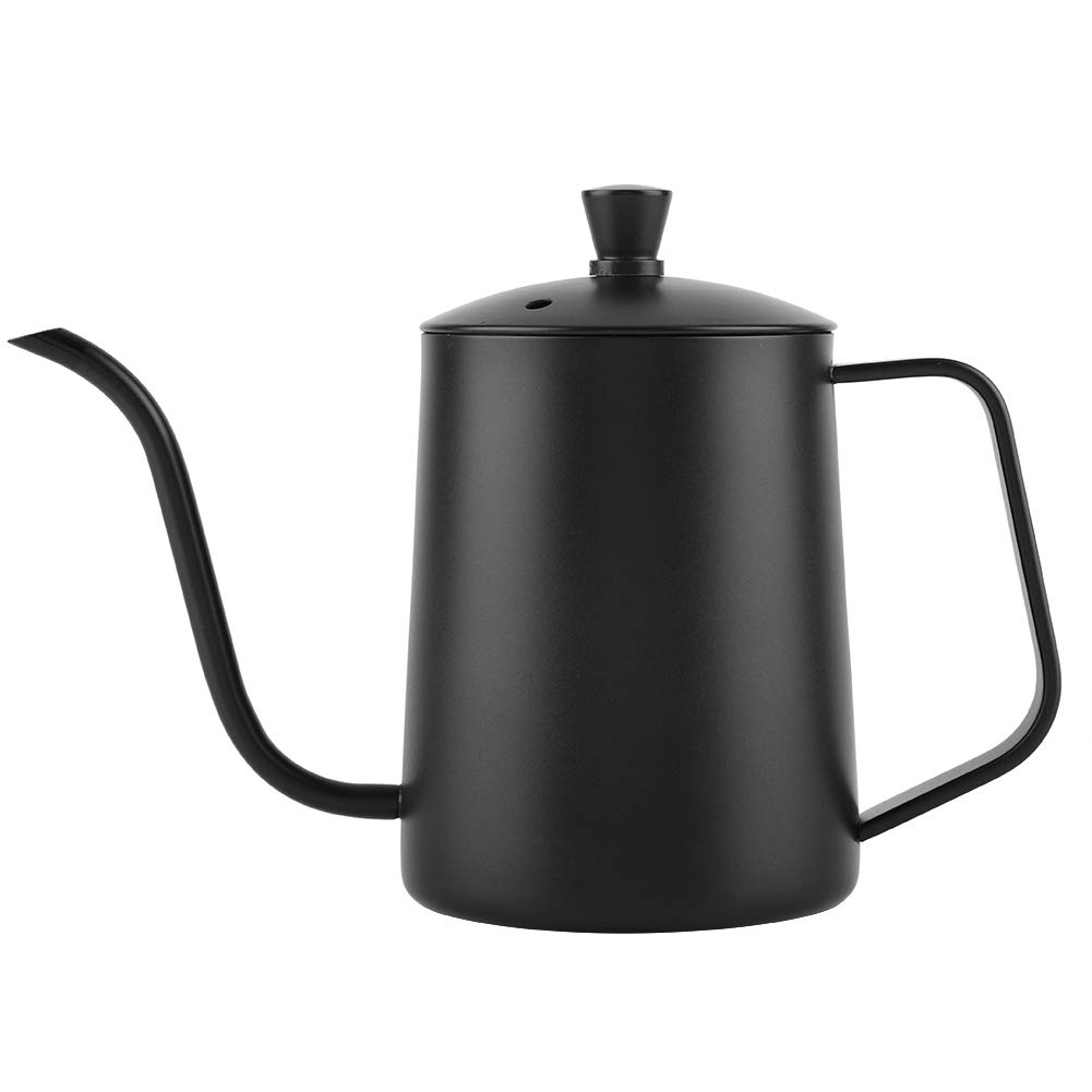 Fdit 550ml Stainless Steel Long Gooseneck Coffee Pot Kettle with Lid for Home Kitchen Coffee Shop by Fdit