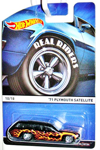 Hot Wheels Real Riders 2015 Heritage Series 10 of 18 '71 Plymouth Satellite Station Wagon with Flames (Plymouth Wagons)