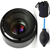 Canon 50mm 1.8 II Lens + Deluxe Lens Blower Brush + Lens Carrying Pouch