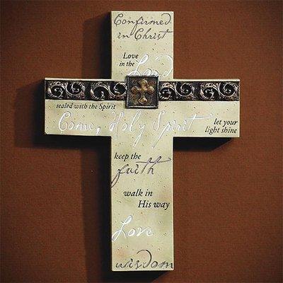 Abbey Press Confirmation Cross - Inspiration Faith Blessing Spirit 54694T-ABBEY