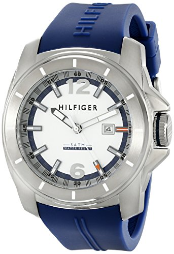 Tommy Hilfiger White Wrist Watch (Tommy Hilfiger Men's 1791113 Cool Sport Analog Display Quartz Blue Watch)