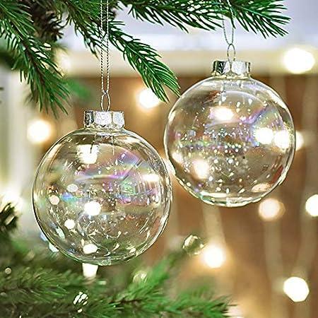 Victors Workshop Set de 4 Bolas de Navidad Decoracion Arbol Navidad, 8CM / 3.15