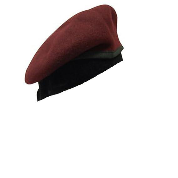 Basco spagnolo militare lana amaranto grigio verde bordeaux para  soldato  originale spagnolo nuovo donna uomo unisex  Amazon.it  Abbigliamento 90a506b76811