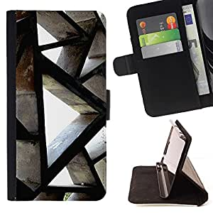 For Sony Xperia Z1 L39 Building Architecture Polygon Engineering Beautiful Print Wallet Leather Case Cover With Credit Card Slots And Stand Function