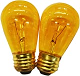 String Light Company S1411WA Amber S14 Light Bulb