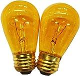 String Light Company S1411WA Amber S14 Light Bulb