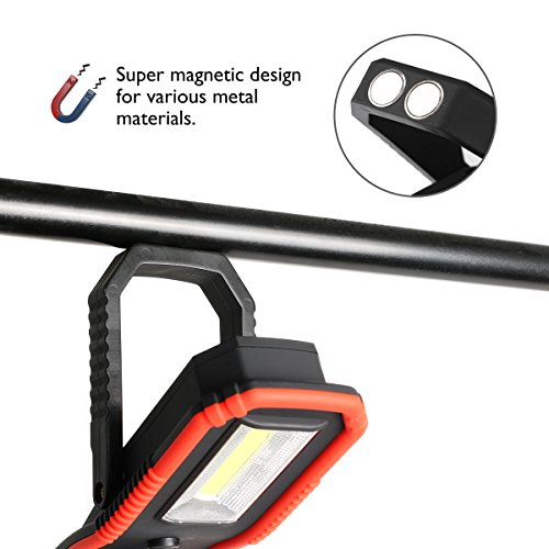Portable LED Work Lights,Focus Function Multi-use 100LM XPE LED and 200LM COB,Waterproof Magnetic Base & Hanging Hook for Outdoor,Car Repairing, Blackout,Emergency,Travel and Indoor by AONOKOY (Image #6)