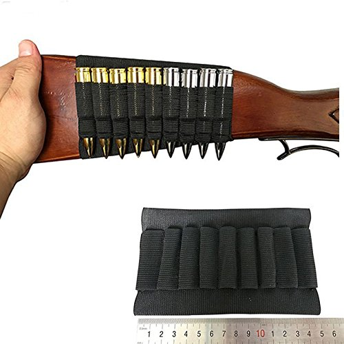 Elastic Pouch 8 Butt Cartridges Stock Shell Holder Rifle Bullet Carrier Pouches