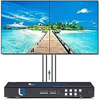 Brightlink Digital ProAV Series 2x2 Video Wall Controller HD 1080P | 4 Picture Multiviewer Display | USB/VGA/Composite/HDMI Input | 1x2, 1x3, 1x4 Menu Board Digital Displays