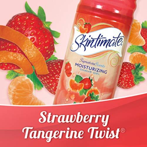 Skintimate Strawberry Tangerine Twist Women's Moisturizing Shave Gel, 198g