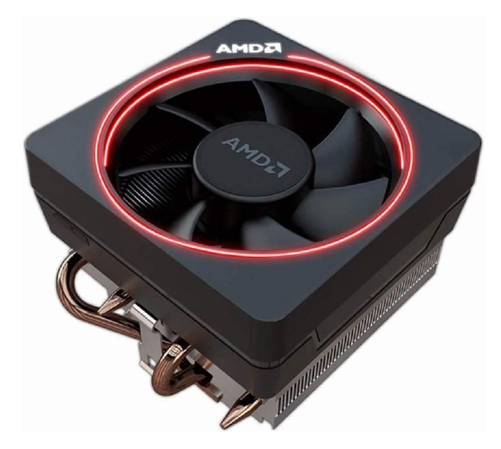 AMD Wraith Max RGB LED Lighting Socket AM4 4-Pin Connector CPU Cooler with Copper Core Base & Aluminum Heatsink & 4.13-Inch Fan for Desktop PC -Bundle with extra Thermal Paste by VT-STAR