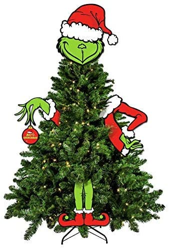 CHRISTMAS GRINCH STOLE XMAS  VINYL WALL STICKER VARIOUS SIZES