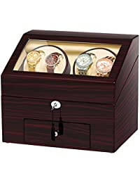 Automatic Wood Watch Winder Display Box 4+9 Storages