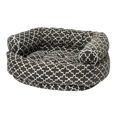 Microvelvet Double Donut Bed - Graphite Lattice Microvelvet Double Donut Bed (MEDIUM)