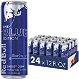Red Bull Blue Edition, Blueberry Energy Drink, 12 Fl Oz Cans, 24 Pack
