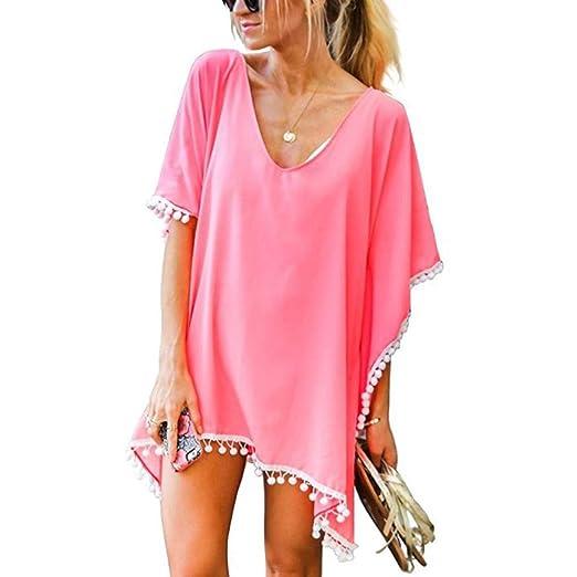 Costura Color de ContrasteTops de Mujer Ronamick Lunares O ...