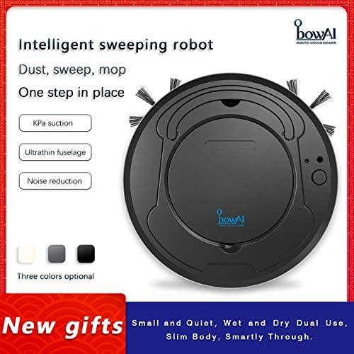 bowAI Robot Aspirador Robot de Barrido Inteligente de Carga USB 3 en 1 Aspiradora automática Limpieza del Suelo (Negro): Amazon.es: Hogar