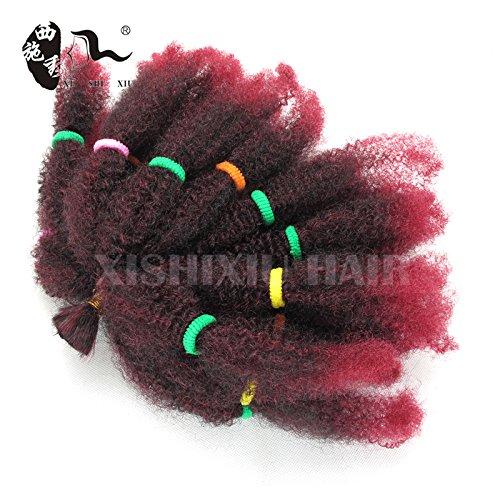 """Beauty : 3Pack/Lot Afro Kinky Bulk Beauty Collection 10"""" Synthetic Hair Braids Bulk Hair For Braiding Marley Braid Hair (1B/Bug#)"""
