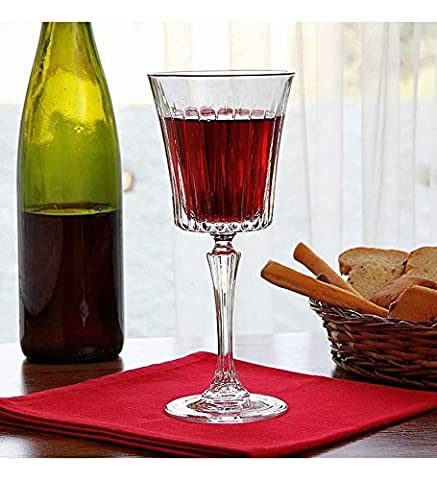 Italian Red Wine Glasses - 8 Ounce - Lead Free - Wine Glass Set of 6, Classic Durable Wine Cups Ideal for All Occasions