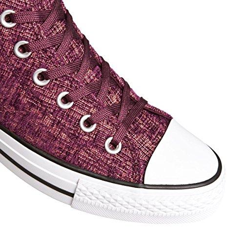 Weinrot HI Weißer Bordeaux Hellrosa Sweatshirt Blush Deep Pink Converse Grau Funkelndes CT Chucks 1U452 Knit wOqgIxZUy6