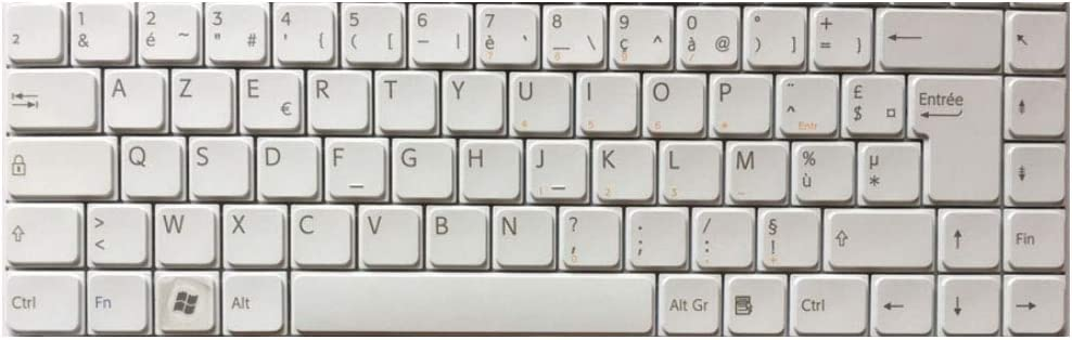 Laptop Keyboard for Sony VAIO NR NS VGN-NS VGN-NR Series V072078AK2 French FR White
