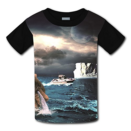 100% Cotton New Slim fit Tshirts 3D Personalised Custom With Ship For Unisex Child M