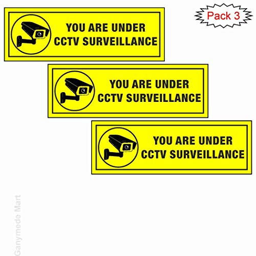 Generic You are under CCTV Surveillance P 1.3B Safety & Warning Sign Board (3.5×11 Inch) Price & Reviews