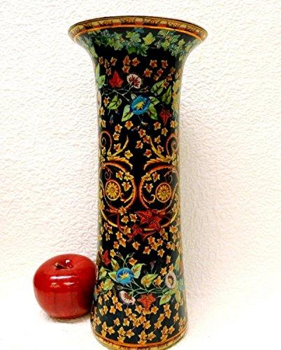 BlueWhiteVases Black Calico Column Porcelain Vase 12