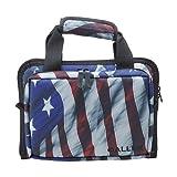 Allen Victory Duplex Attache Two Handgun Case, 11.5 x 9-Inch, Stars & Stripes