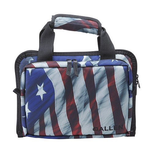 Allen Victory Duplex Attache Two Handgun Case, 11.5 x 9-Inch, Stars & Stripes