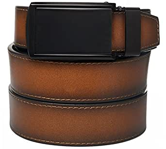 Cognac Full Grain Leather with Matte Black Buckle