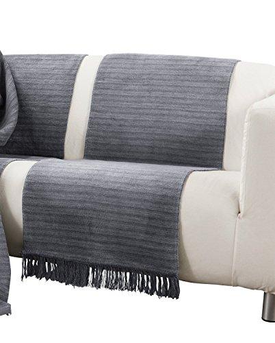 Ibena Sofaläufer Baumwollmischung grau Größe 50x200 cm