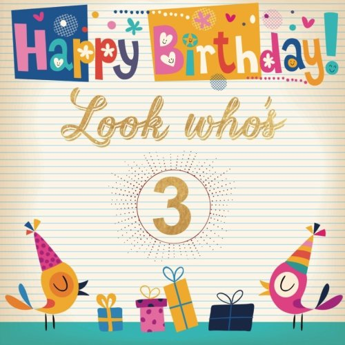 in book format 23 x 19 x 9 cm Gift Bag /'HAPPY BIRTHDAY/' lettering style