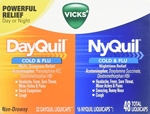 - Vicks DayQuil & NyQuil Cold & Flu Combo Pack LiquiCaps Combo Pack