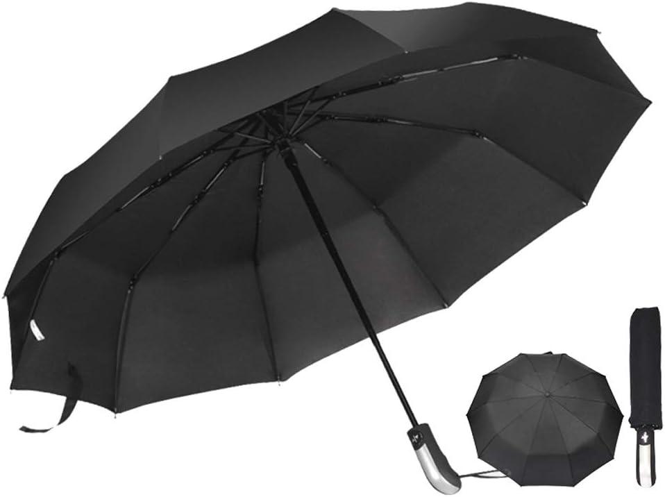 C.W.USJ Umbrella Automatic Folding Umbrella Compact Parasol with 95/% UV Protection for Sun Rain Large Canopy Ergonomic Handle Color : Blue, Size : Free