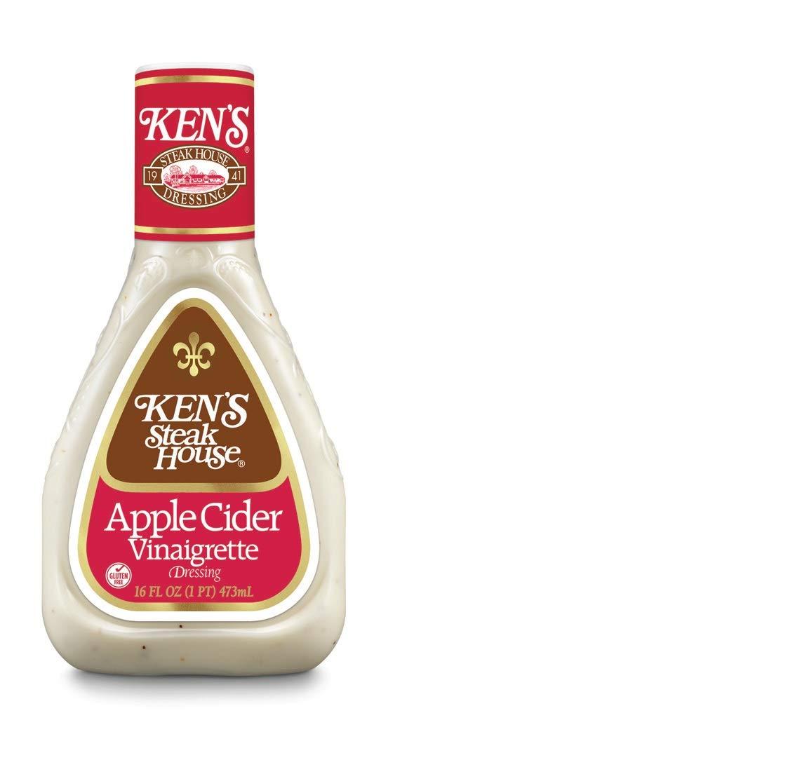 Ken's Steak House Apple Cider Vinaigrette Dressing, 16 fl oz (Pack of 2)