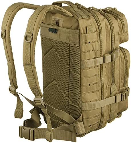 Mil Tec US Assault 20L laser-cut coyote-coloured backpack.
