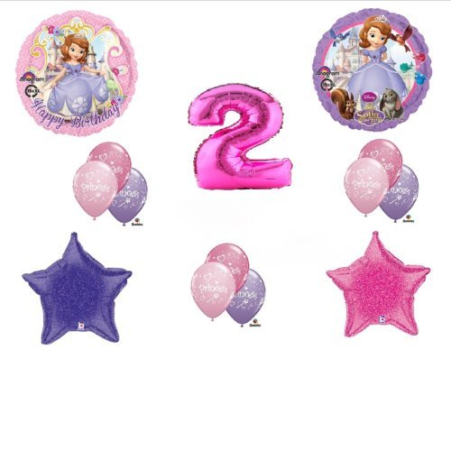 Disney's Sofia the First Second 2nd Happy Birthday Party Balloons Decorations Supplies Bouquet -