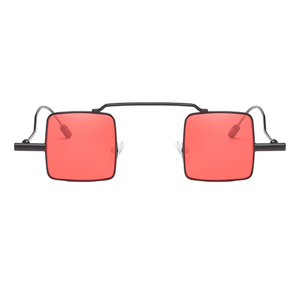 Vintage Petit Carré lunettes de Soleil hibote Femmes Hommes Steampunk Gothique Décoré Lunettes Réfléchissant En Métal Mince Cadre C2 ANWTTDzhWX