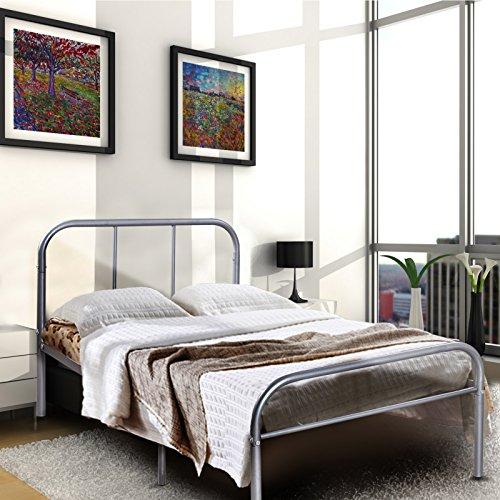 Twin Size Metal Platform Bed Frame Modern Home Bedroom Furni