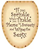 Toilet Tattoos, Toilet Seat  Cover Decal,  Sweety Seaty, Size Elongated