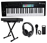 : Novation LAUNCHKEY-49-MK2 49-Key Keyboard Controller+Bench+Headphones+Mic+Cable