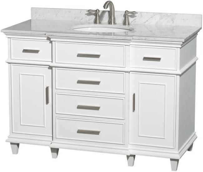 and 44 inch Mirror Undermount Oval Sink Ivory Marble Countertop Wyndham Collection Hatton 48 inch Single Bathroom Vanity in Dark Chestnut