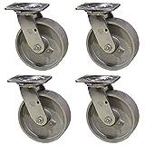 4 cast iron casters - 6