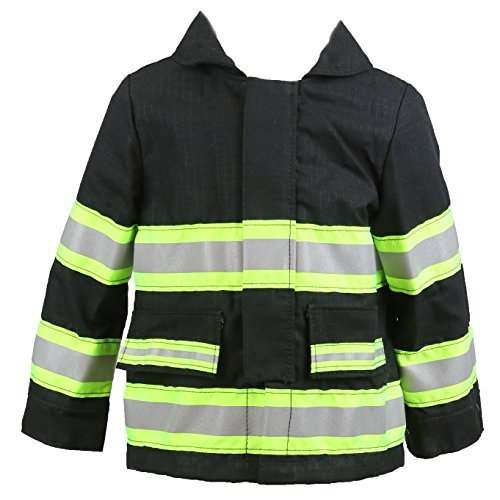 Fully Involved Stitching Personalized Firefighter Toddler Black Jacket (ONLY) (3T)